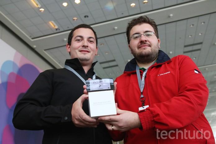 Desenvolvedores brasileiros vencem o Design Awards (Foto: Fabrício Vitorino/TechTudo)