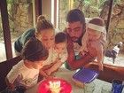 Luana Piovani comemora os seis meses dos filhos gêmeos