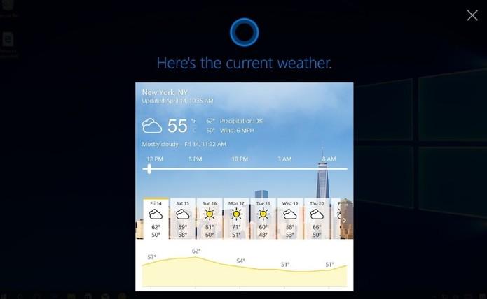 Cortana ganhou melhorias com o Windows 10 Creators Update (Foto: Divulgação/Microsoft)