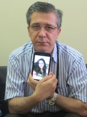 Adherbal Alves Ferreira, pai de vítima do incêndio em Santa Maria (Foto: Tahiane Stochero/G1)