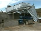 Moradores de Guaçuí, ES, calculam prejuízos após chuva de granizo