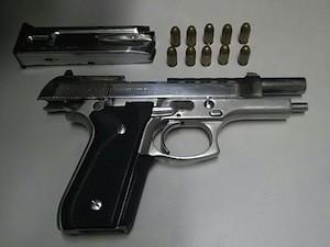 Arma encontrada com suspeito em Natal estava com numeração raspada (Foto: Divulgação/Polícia Militar)