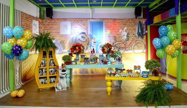 Decoração da festa do Joaquim, filho do Felipe Simas (Foto: Thais Galardi/Divulgação)