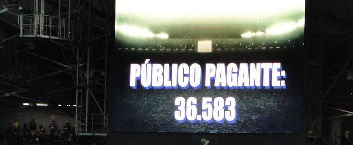 Telão Mineirão público pagante (Foto: Marco Astoni)