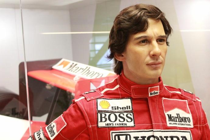 Estátua de cera de Ayrton Senna levou mais de seis meses para ser produzida (Foto: Jeferson Marques / Divulgação)