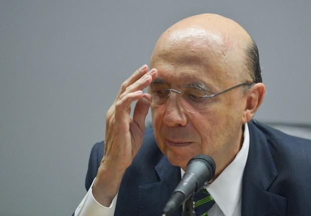 O ministro da Fazenda, Henrique Meirelles, durante anúncio de novos integrantes da equipe econômica (Foto: Antônio Cruz/Agência Brasil)