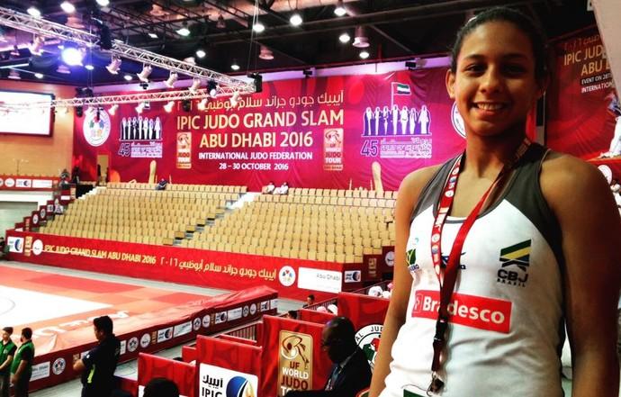 Layana Colman no Grand Slam de judô em Abu Dhabi (Foto: Arquivo pessoal)