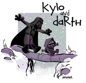 Darth Vader e Kylo Ren são desenhados como no mundo de Calvin e Haroldo (Foto: Reprodução/Instagram/briankesinger)
