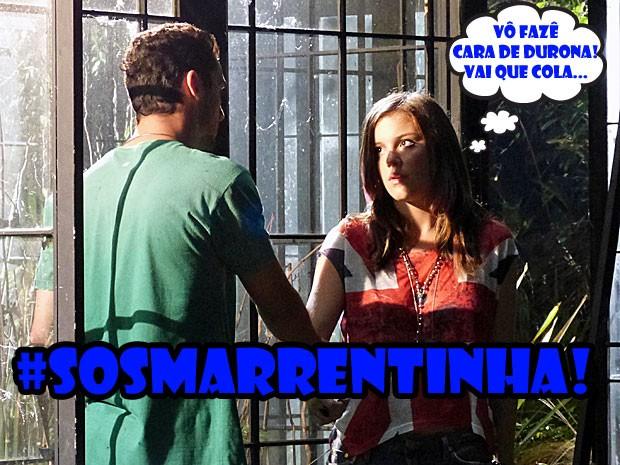 Abre teu olho, marrentinha! A parada tá sinistra pro teu lado! (Foto: Malhação / Tv Globo)