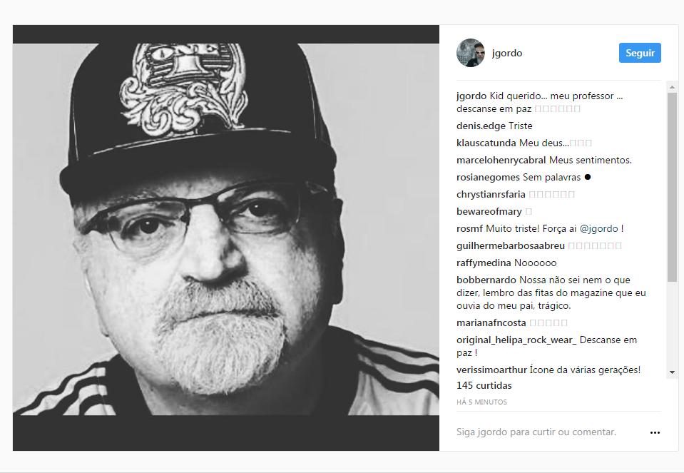 Instagram de João Gordo (Foto: Reprodução)