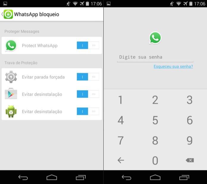 Ative a proteção por senha do WhatsApp (Foto: Reprodução/Helito Bijora)