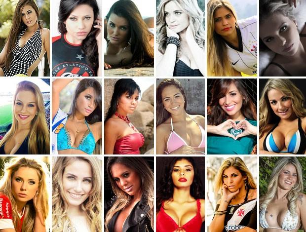 Mosaico candidatas Musa do Brasileirão (Foto: Divulgação)