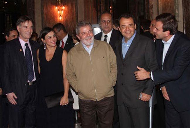 Eike Batista, Adriana Ancelmo, Lula, Pezão, Sérgio Cabral e Eduardo Paes (Foto: Blog do Garotinho)