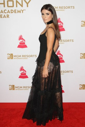 Paula Fernandes em prêmio de música em Las Vegas, nos Estados Unidos (Foto: Tommaso Boddi/ AFP)