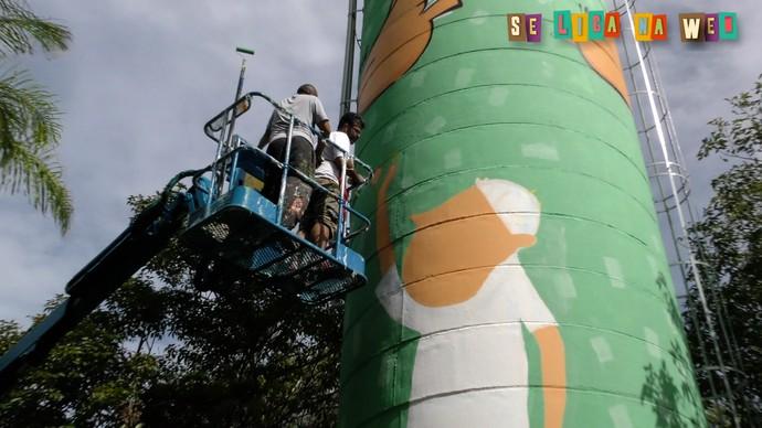 """Projeto """"Telas da Cidade"""" promove o grafite em pontos de Fortaleza (Foto: Reynan Braga / Se Liga VM)"""