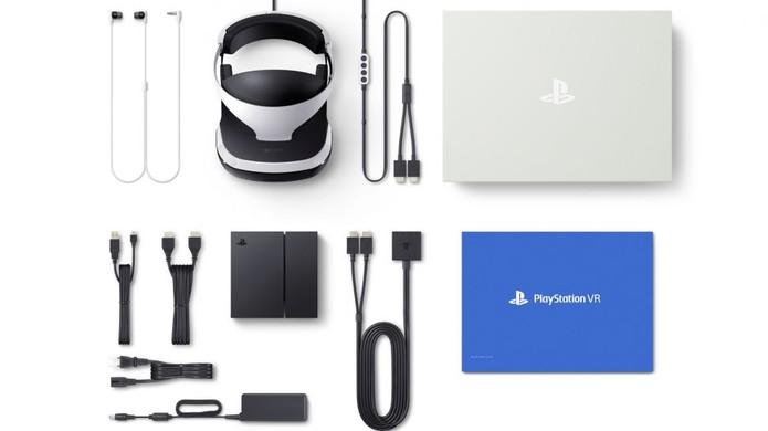 Conteúdo da caixa do PlayStation VR (Foto: Divulgação/Sony)