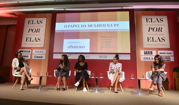 Marina Caruso, Maria Ribeiro, Gloria Maria, Taís Araújo e Daniela Falcão (Foto: Fabio Cordeiro)