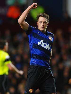 phil jones manchester united gol aston villa (Foto: Agência AP)