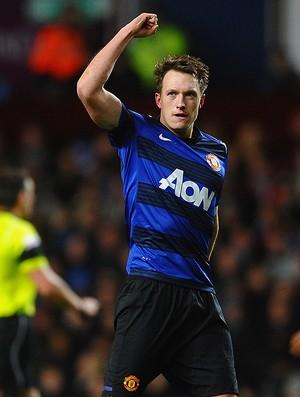 phil jones manchester united gol aston villa (Foto: Agência AP)