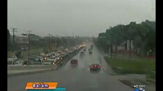Previsão do tempo é de chuva durante toda esta segunda no Pará