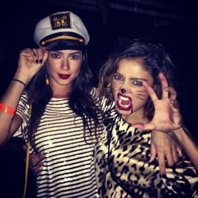Thaila Ayala e Sophie Charlotte em festa de Halloween no Rio (Foto: Instagram/ Reprodução)