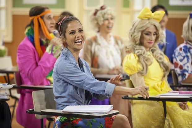 Fernanda de Freitas em cena da Escolinha do Professor Raimundo (Foto: Globo/Pedro Curi)