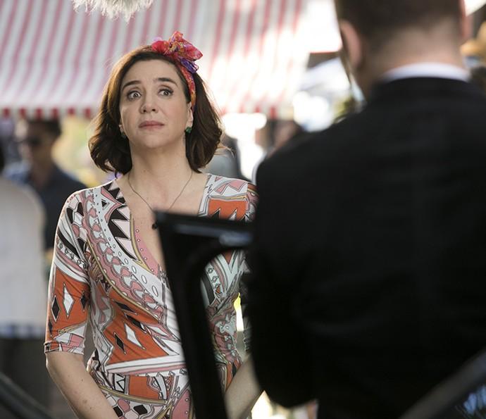 Francesca se surpreende com revelação de Rodrigo (Foto: Raphael Dias/Gshow)