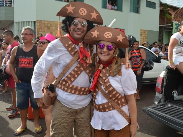 Desfile do bloco A Banda no Carnaval 2016, em Macapá (Foto: John Pacheco/G1)