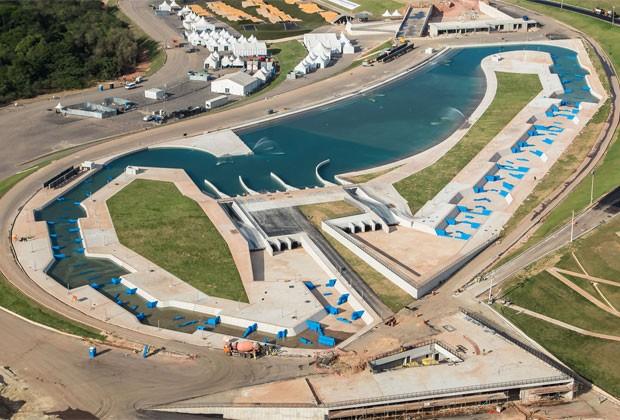 Circuito de canoagem slalom tem 98% de obras realizadas (Foto: Renato Sette Câmara / Prefeitura do Rio)