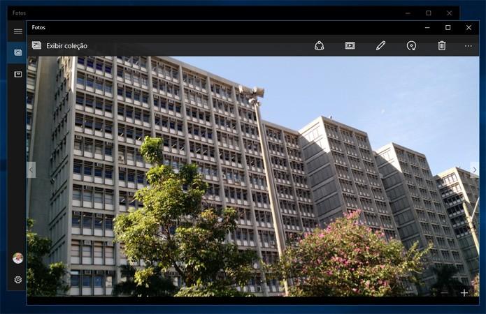 Aplicativo Microsoft Fotos é leve e tem menu discreto (Reprodução)