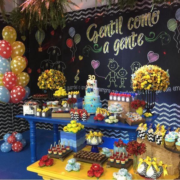 Decoração festa Gentil (Foto: reprodução/instagram)