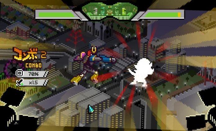 Além de cada super sentai, é possível controlar um robô gigante contra monstros em Chroma Squad (Foto: Divulgação)