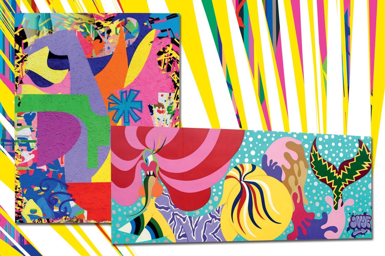 AVAF inaugurou em julho passado um mural em Coney Island, parte do projeto que revitaliza a região. Este mês, apresentam obras inéditas na galeria Eleven Rivington, em Nova York (Foto: Divulgação)