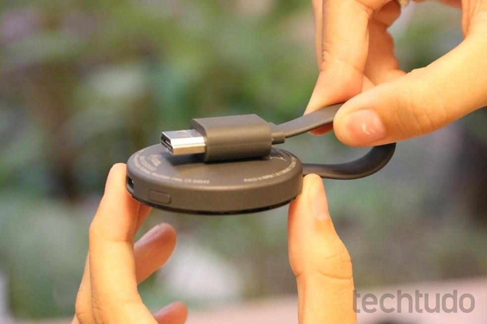 Chromecast 2 é compatível com Android, Chrome, iOS, Windows e Mac (Foto: Caio Bersot/TechTudo)