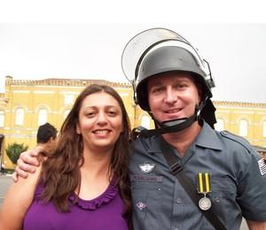 Foto pra home do casal de PMs mortos (Foto: Reprodução / Facebook)