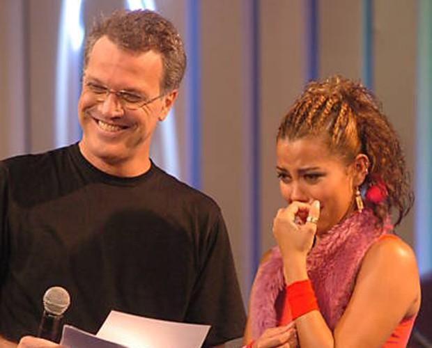Pedro Bial no BBB 5 (Foto: Divulgação/TV Globo)