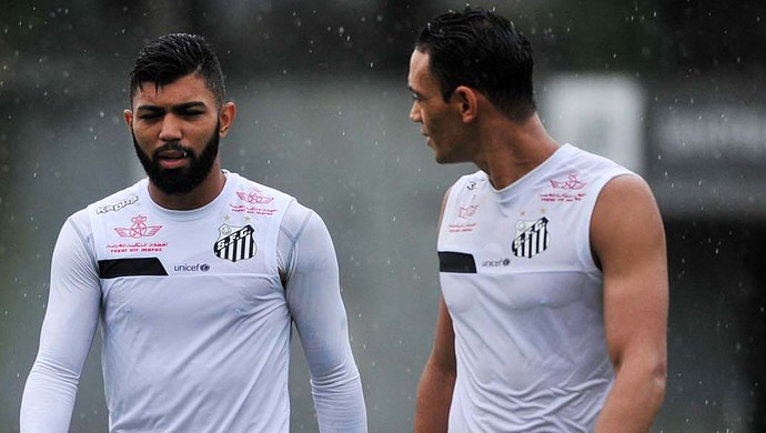 Gabriel e Ricardo Oliveira, Santos (Foto: Ivan Storti/Santos FC)