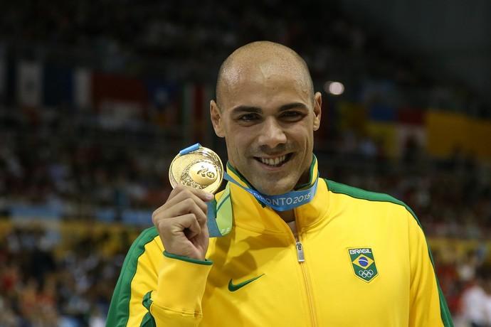 João de Lucca ouro 200m livre Pan de Toronto natação (Foto: Satiro Sodré / SSPress)