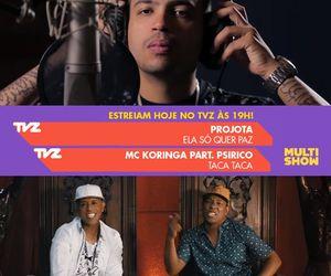 Novo clipe de Projota e parceria de Koringa com Psirico estreiam no TVZ desta terça-feira (2)