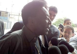 Pelé participa de evento em Santos (Foto: Anna Gabriela Ribeiro/G1)