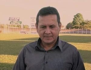 Éder Taques, técnico do Vilhena (Foto: Reprodução/TV RO)