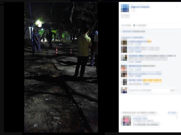 Homem foi baleado dentro da Ufba, em Ondina (Foto: Reprodução/Facebook)