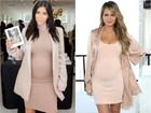 Batalha de looks: Chrissy Teigen copia estilo de gravidez de Kim Kardashian