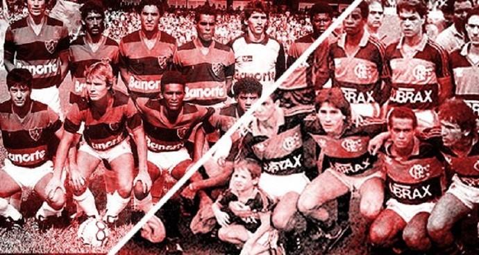 Carrossel Sport x Flamengo 1987 (Foto: Montagem sobre foto da Gazeta Press)