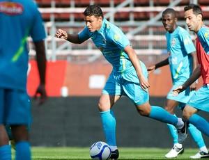 Thiago Silva no treino da Seleção Brasileira (Foto: Reuters)
