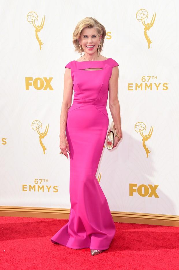 Christine Baranski no Emmy Awards (Foto: Getty Images)