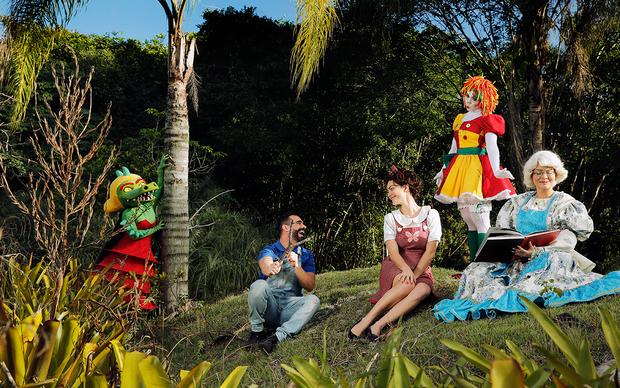 Jorge Sousa, Laura Keller, Mulher Melão e Geisy Arruda revivem o Sítio do Picapau Amarelo (Foto: Marcos Serra Lima / EGO)