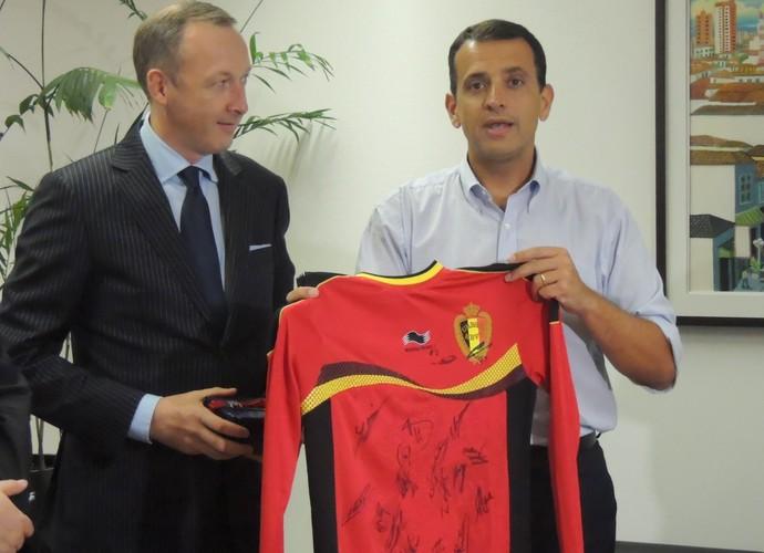 Visita cônsul belga a Mogi das Cruzes (Foto: Rodrigo Mariano)