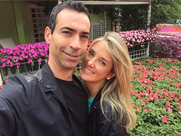 César Tralli e Ticiane Pinheiro (Foto: Reprodução/Twitter)