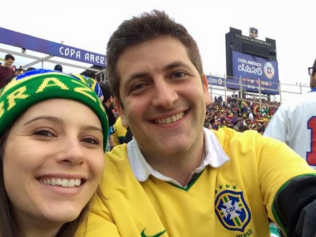 Luis Paulo Camicasca e Carolina Costa Camicasca (Foto: Arquivo Pessoal/ Carolina Camicasca)